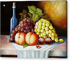 Acrylic Print featuring the painting Wine And Dine by Gene Gregory