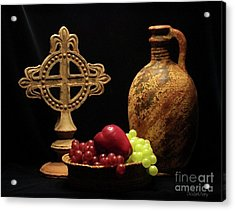 Acrylic Print featuring the photograph Wine And Fruit by Dodie Ulery