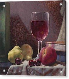 Wine And Fruit Acrylic Print
