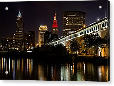 Wine And Gold In Cleveland Acrylic Print by Dale Kincaid
