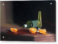 Wine And Oranges Acrylic Print by Greg Clibon