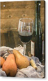 Wine And Pears Acrylic Print