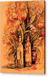 Wine And Tulips Acrylic Print by Dan Earle