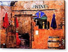 Acrylic Print featuring the photograph Wine Bar Of The Southwest by Barbara Chichester