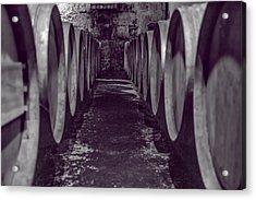 Wine Barrel Alley Acrylic Print by Georgia Fowler