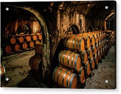 Wine Barrels At Stone Hill Winery_7r2_dsc0318_16-08-18 Acrylic Print