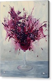 Wine Bouquet Acrylic Print by T Fry-Green
