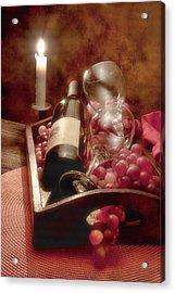 Wine By Candle Light II Acrylic Print by Tom Mc Nemar