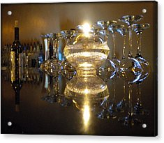 Wine By Candle Light Acrylic Print