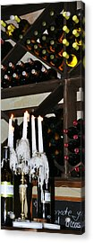 Wine By Candlelight Acrylic Print by Rose  Hill