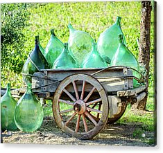 Wine Cart Acrylic Print by Marla Hunt