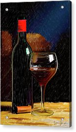 Wine Cellar 01 Acrylic Print by Wally Hampton