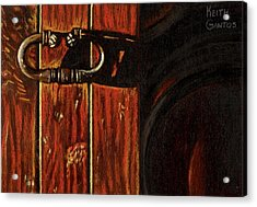 Wine Cellar Door Acrylic Print