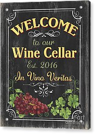 Wine Cellar Sign 1 Acrylic Print