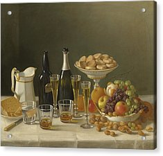 Wine, Cheese, And Fruit Acrylic Print