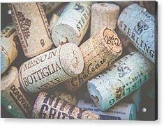 Wine Corks Acrylic Print by April Reppucci