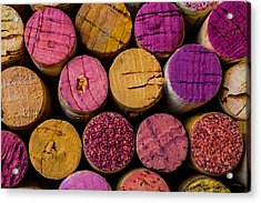 Wine Corks Close Up Acrylic Print by Garry Gay