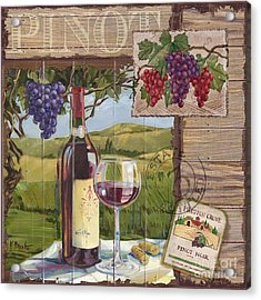 Wine County Collage I Acrylic Print by Paul Brent