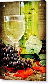 Wine Acrylic Print by Darren Fisher