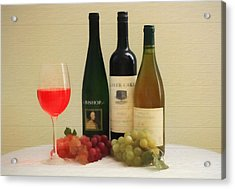 Wine Display Barn Door  Acrylic Print by Dan Sproul