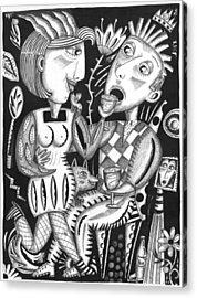 Wine Down Acrylic Print by Betty Wick