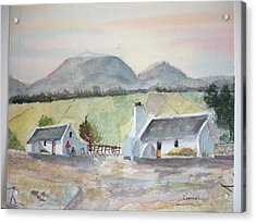 Wine Farm Worker's Cottages Western Cape South Africa Acrylic Print