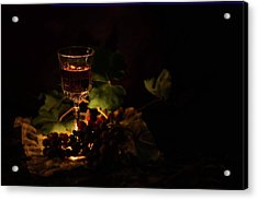 Wine Glass And Grapes Acrylic Print