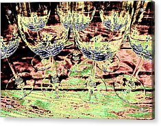 Wine Glasses Acrylic Print by Will Borden