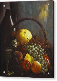 Wine Goblet Acrylic Print by Harvie Brown