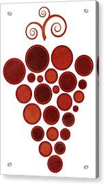 Wine Grape Acrylic Print by Frank Tschakert