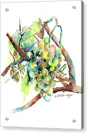 Wine Grapes Acrylic Print by Arline Wagner