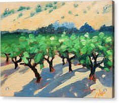 Acrylic Print featuring the painting Wine Habitat by Gary Coleman