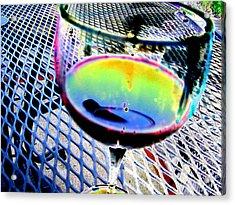 Wine Horizontal Acrylic Print by Peter  McIntosh