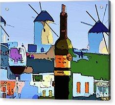Wine In Mykonos Acrylic Print