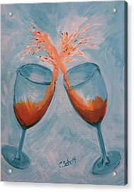 Wine In Motion Acrylic Print