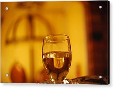 Wine In The Kitchen Acrylic Print by Peter  McIntosh