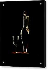 Wine Acrylic Print by Jon Daly