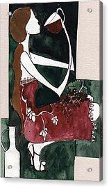 Acrylic Print featuring the painting Wine by Maya Manolova