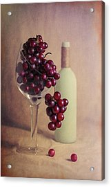 Wine On The Vine Acrylic Print by Tom Mc Nemar