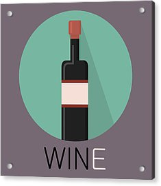 Wine Poster Print - Win And Wine Acrylic Print