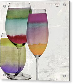 Wine Prism Acrylic Print by Mindy Sommers