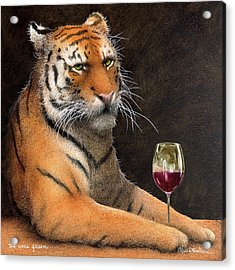 Acrylic Print featuring the painting Wine Queen... by Will Bullas