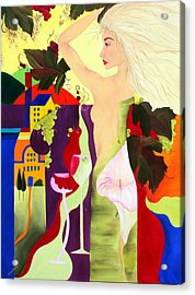 Wine Spirit Acrylic Print by Gwen Rose