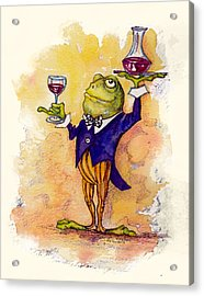 Wine Steward Toady Acrylic Print by Peggy Wilson