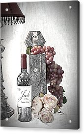 Acrylic Print featuring the photograph Wine Tasting Evening by Sherry Hallemeier