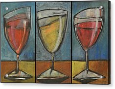 Wine Trio - Option One Acrylic Print by Tim Nyberg