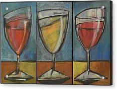Wine Trio - Option One Acrylic Print by Tim Nyberg