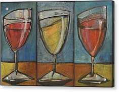 Wine Trio Option 2 Acrylic Print by Tim Nyberg