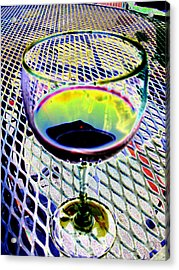 Wine Vertical Acrylic Print by Peter  McIntosh