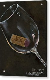 Wine With Dinner Acrylic Print by Sheryl Heatherly Hawkins